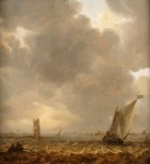 49. Jan Van Goyen, An Estuary with Row and Sail Boats